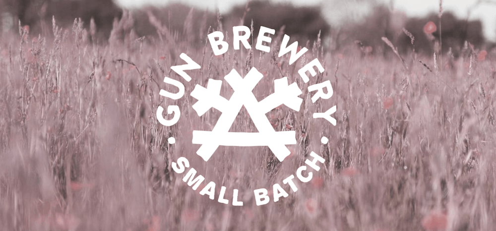 Tasting beers from the Gun Brewery