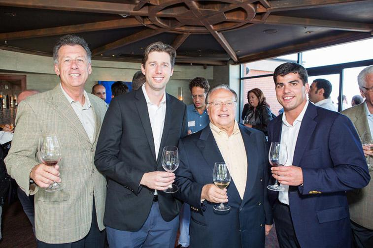 Steve Cousins, Anthony Van Nice, Joe Antonini (Co-Founder and Chairman, Andretti Winery), Mark Canty (Director, Bacchus Capital)