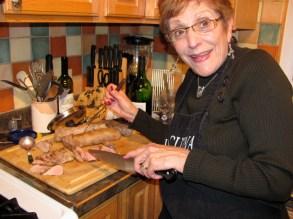 In the kitchen, Vicki Stewart, board member