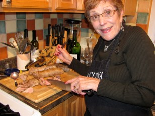 In the kitchen, Vicki Stewart, board member