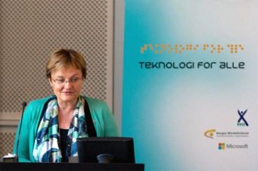 Teknologi for alle statsråd Åserud / minister Åserud