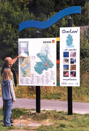 Visit Grenland informasjonsskilt / information signs
