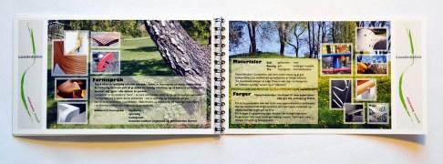 Designprofil Lundedalen formspråk, materialer og farger/ design profile shape, materials and colors