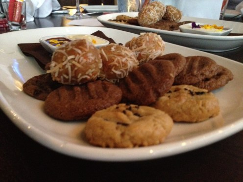 More blurry cookies with chocolate and nutella dipping sauces.