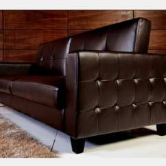 Tufted Brown Leather Sofa Sectional Chaise Sofas Faux Bed Bachelor On A Budget