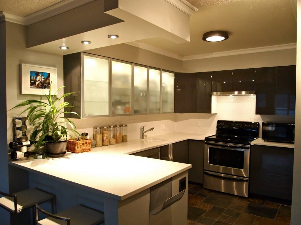 kitchen spotlights cabinet hardware ideas the 'ultimate' bachelor pad condo - on a budget