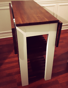 drop leaf kitchen cart pull out cabinet diy island bachelor on a budget 2