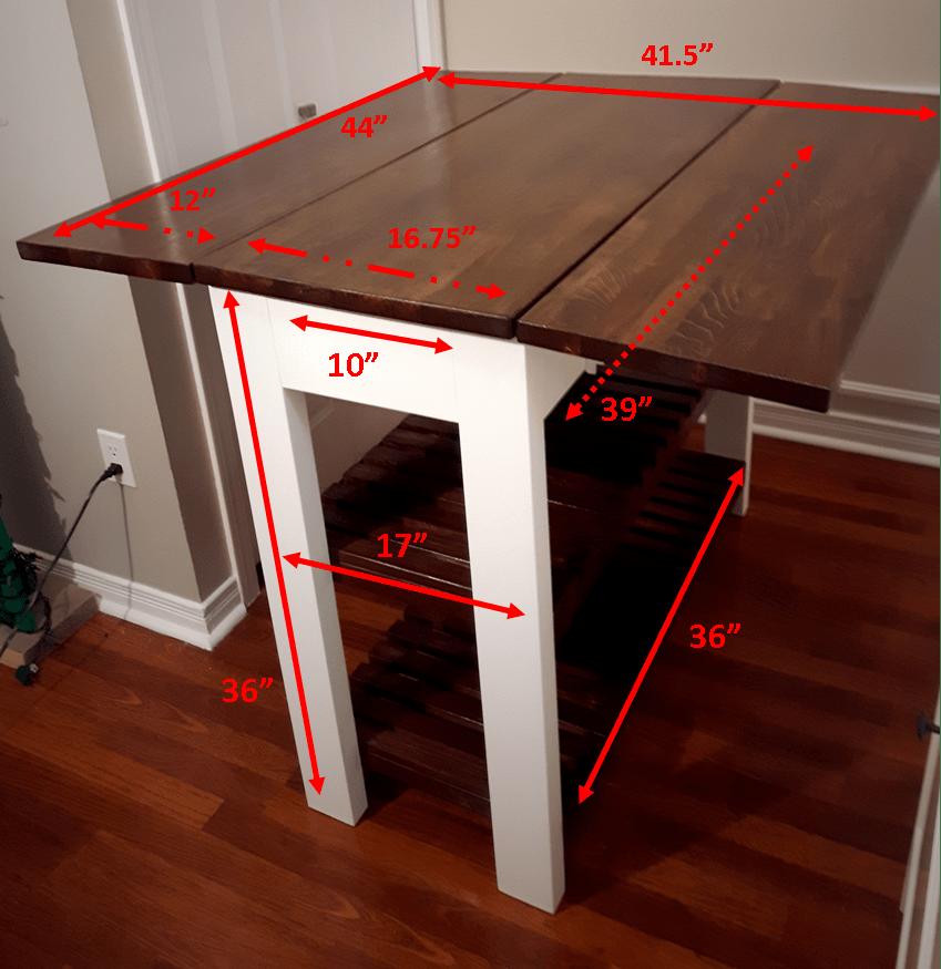 DIY Drop Leaf Kitchen Island / Cart