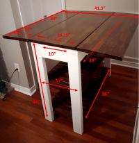 DIY Drop Leaf Kitchen Island / Cart