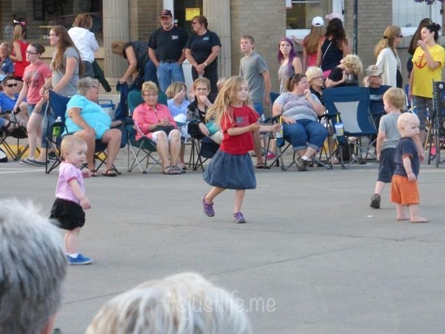 Everyone loved dancing to the music.