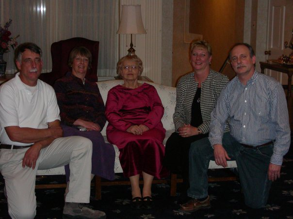 """The """"kids"""" with my mom on her 80th birthday."""