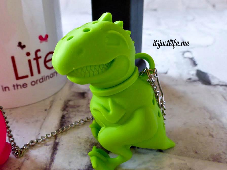 How about a dinosaur to hold tea?