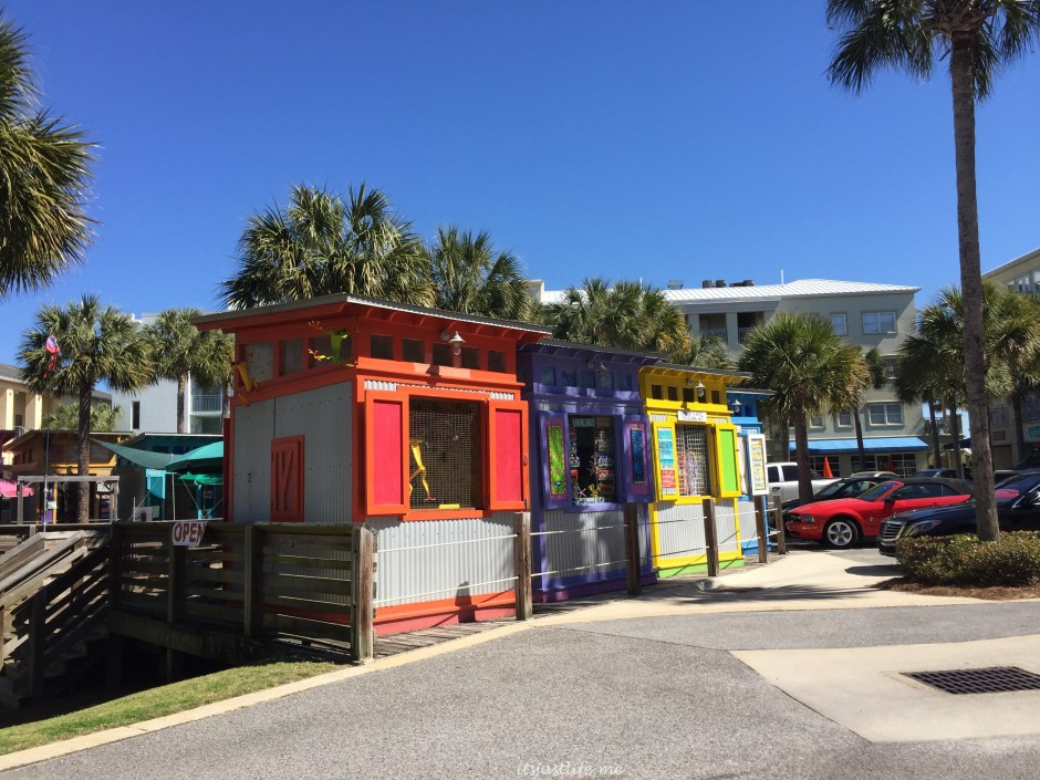 Some of the booths at the Artists at Gulf Place