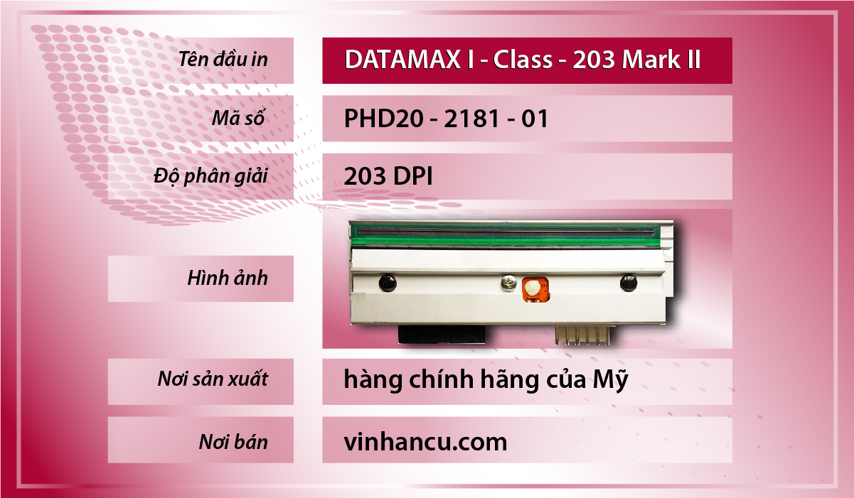 Đầu in mã vạch Datamax