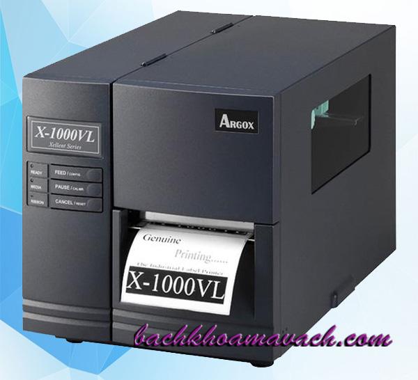 Máy in tem nhãn Argox X 1000VL chính hãng, Máy in Argox công nghiệp chính hãng, Máy in tem nhãn Argox chính hãng, Máy in nhãn dán Argox chính hãng
