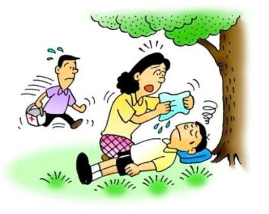 Người mắc bệnh say nắng thường do mất nước khá nhiều