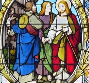 Fensterbild Dreifaltigkeitskirche Reinsdorf