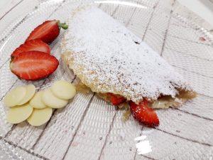 Crêpes de Choc. blanco y fresas 28