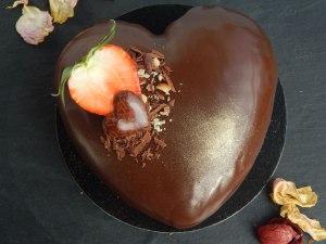 Cuore de mousse de chocolate y gianduia 42