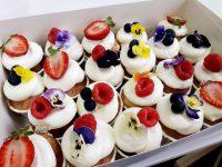 """Mini cupcakes """"Romantic Flower"""" 12"""
