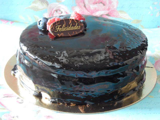 Mini pastel de chocolate (sin gluten y vegano) 18
