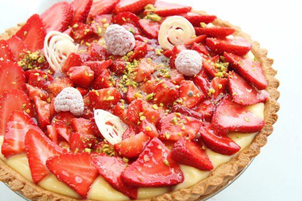 Tartaleta fresa y pistacho