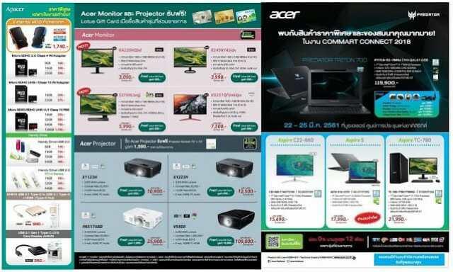 - 29365987 10212599650721169 3238547998522736640 o 2 - โปรโมชั่น Acer ที่งาน Commart Connect 2018