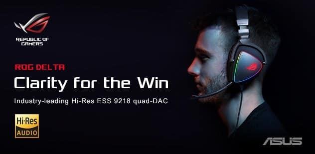 - Deltabanner 1 - ASUS ROG เปิดตัวหูฟังเกมมิ่ง ROG Delta และ ROG Delta Core