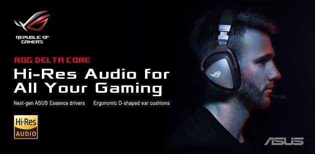 - Deltacorebanner 1 - ASUS ROG เปิดตัวหูฟังเกมมิ่ง ROG Delta และ ROG Delta Core