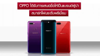 - OPPO ได้รับการเสนอชื่อให้เป็นแบรนด์สมาร์ทโฟนชั้นนำจากการวิจัยตลาดของบริษัท Counterpoint