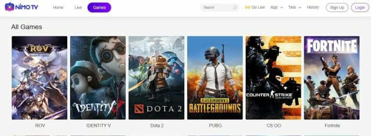 """- Nimo TV 3 2 - HUYA เปิดตัวระบบให้บริการสตรีมมิ่งวีดีโอเกมส์ออนไลน์ """"Nimo TV"""" ให้บริการทั่วเอเชียตะวันออกเฉียงใต้"""