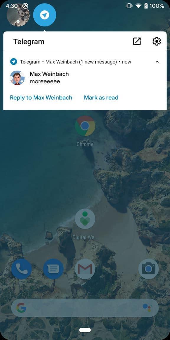Android Q ทดสอบการแจ้งเตือนแบบ Facebook chat head พร้อมวิธีเปิดใช้งาน 3