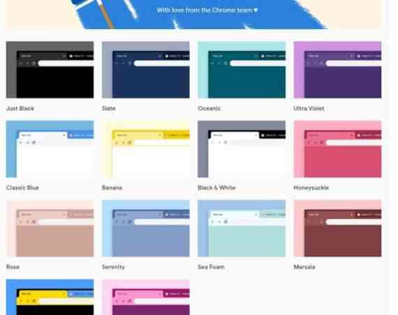 - New Chrome themes - Chrome สำหรับ Desktop เปิดตัวธีมใหม่ 12 สี พร้อมสีดำ Just Black