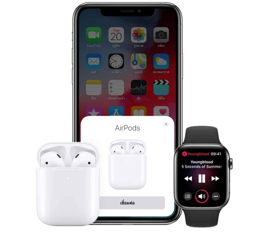 - Apple เปิดตัวหูฟัง AirPods ใหม่ เปลี่ยนชิป ชาร์จไร้สาย ใช้ Hey Siri ได้