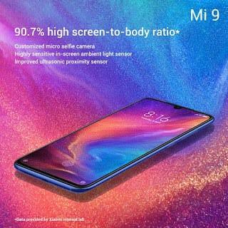- Xiaomi Mi 9 Screen to body ratio - Xiaomi เปิดตัว Mi9 สเปกจัดเต็ม กล้อง 3 ตัวคะแนน DxOMark 107 ในราคาเอื้อมถึง