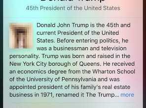 - Siri เจอบั๊ก แสดงรูปประธานาธิบดีสหรัฐ Donald Trump เป็นรูปอวัยวะเพศชาย