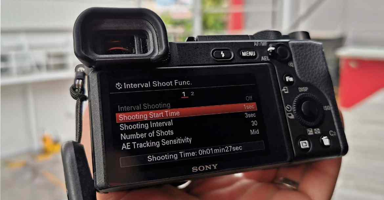 sony a6400 timelapse - วิธีตั้งค่าถ่าย Interval บน Sony a6400