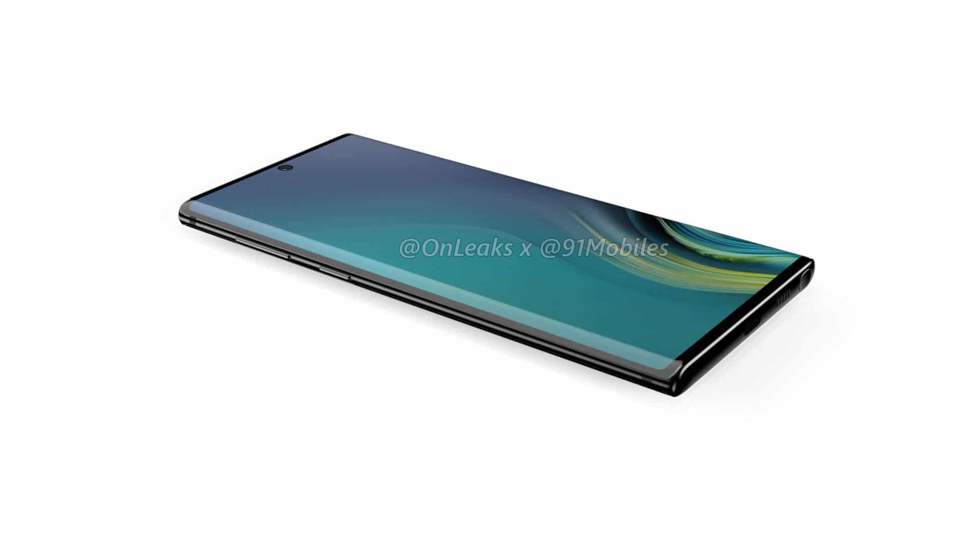 หลุดข้อมูล Samsung Galaxy Note 10 ย้ายกล้องหลังไว้ด้านข้าง แล้วย้ายกล้องหน้ามาตรงกลาง 3