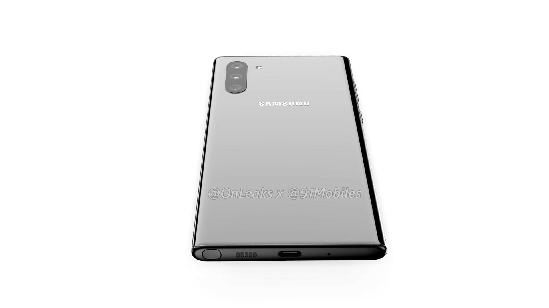 หลุดข้อมูล Samsung Galaxy Note 10 ย้ายกล้องหลังไว้ด้านข้าง แล้วย้ายกล้องหน้ามาตรงกลาง 7