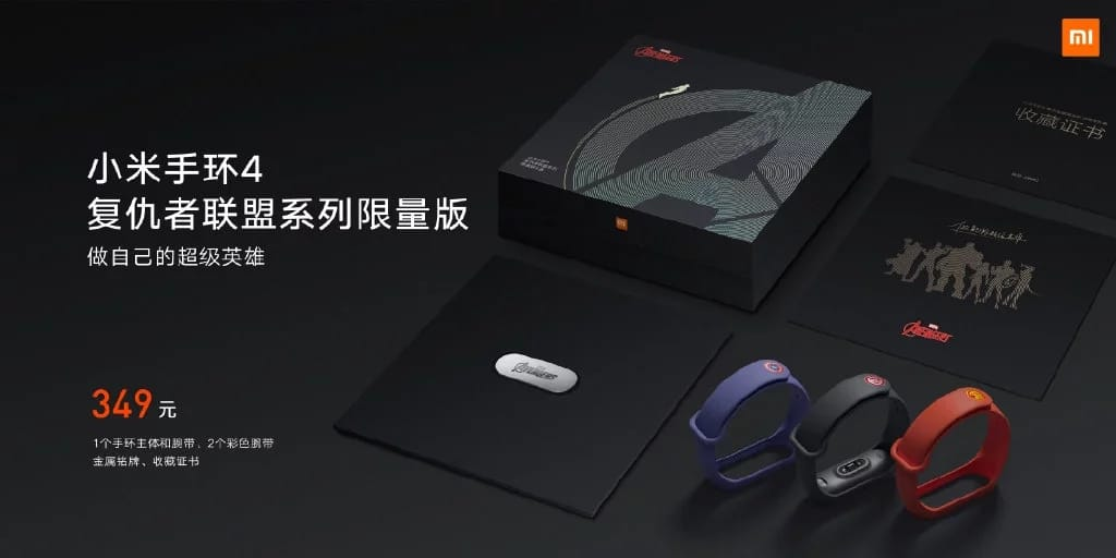 - เปิดตัว Xiaomi Mi Band 4 หน้าจอสี AMOLED ราคาเริ่มต้น 780.- พร้อมรุ่นพิเศษ Avengers Edition