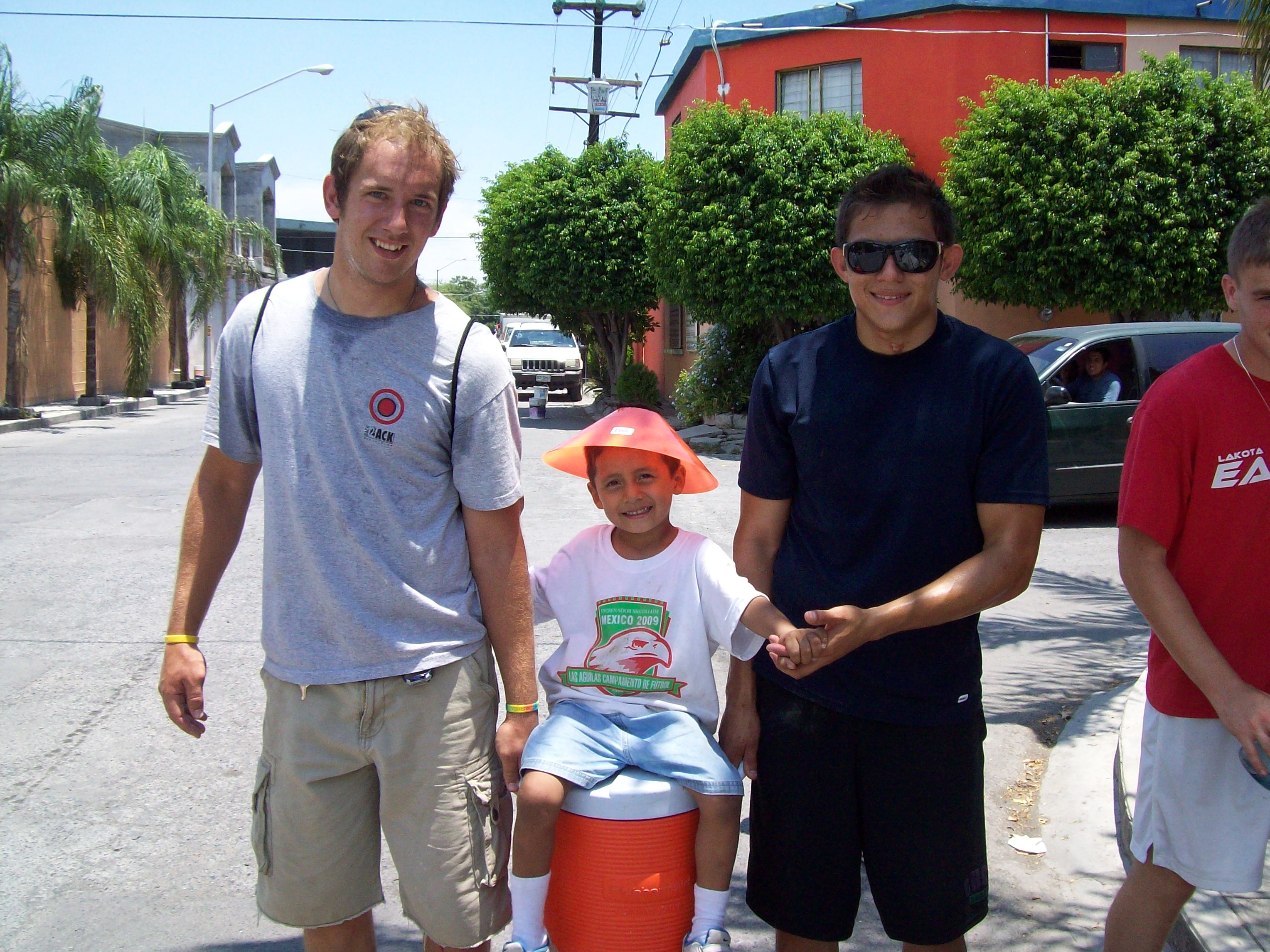 Shawn, a summer 2009 intern, at a work project in Monterrey