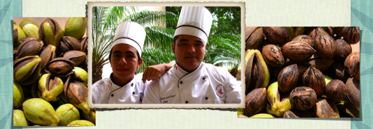 Oscar and Angel, two Hope Program students, who recently graduated from culinary school