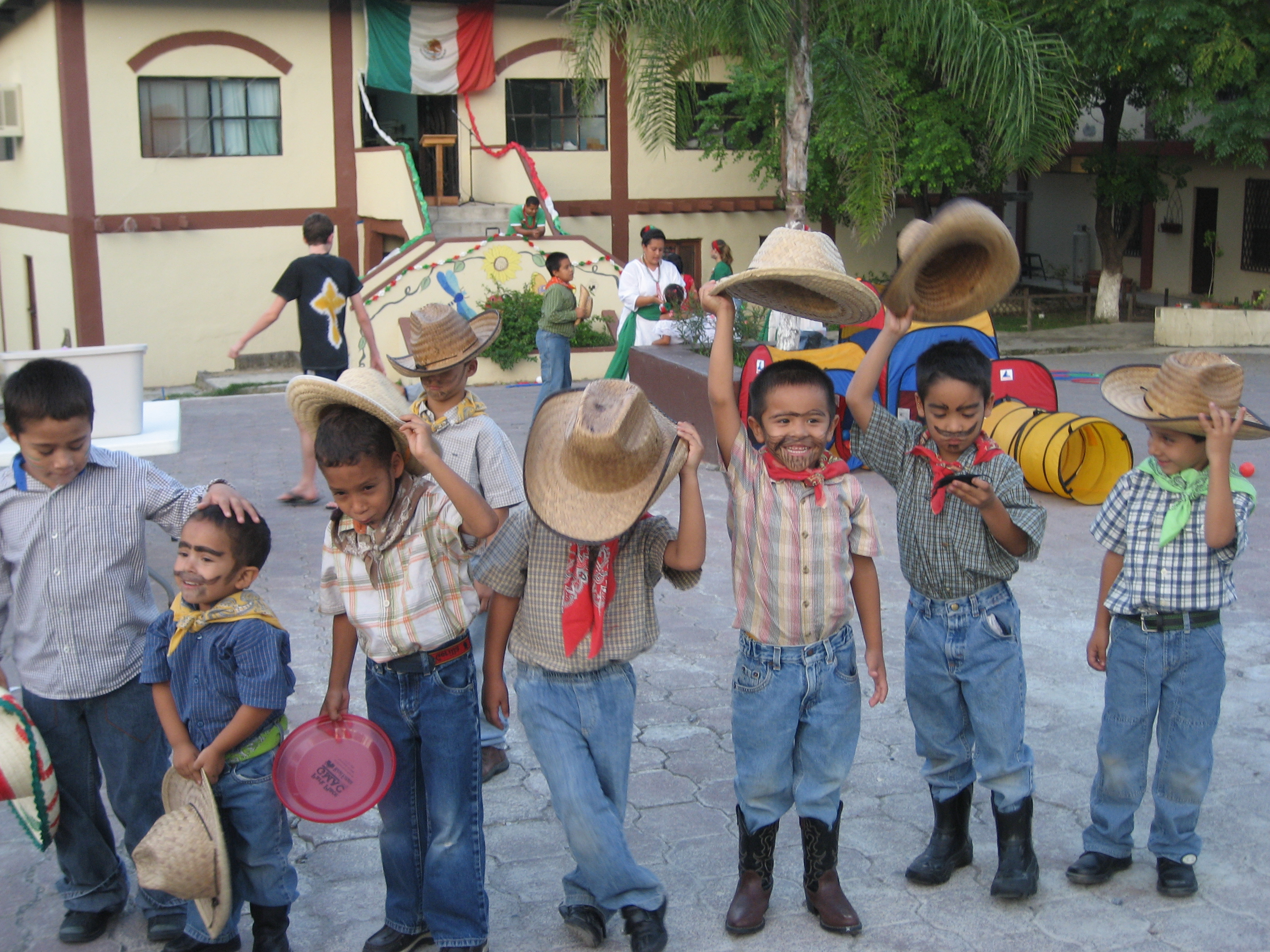 The children dressed up in costumes to celebrate