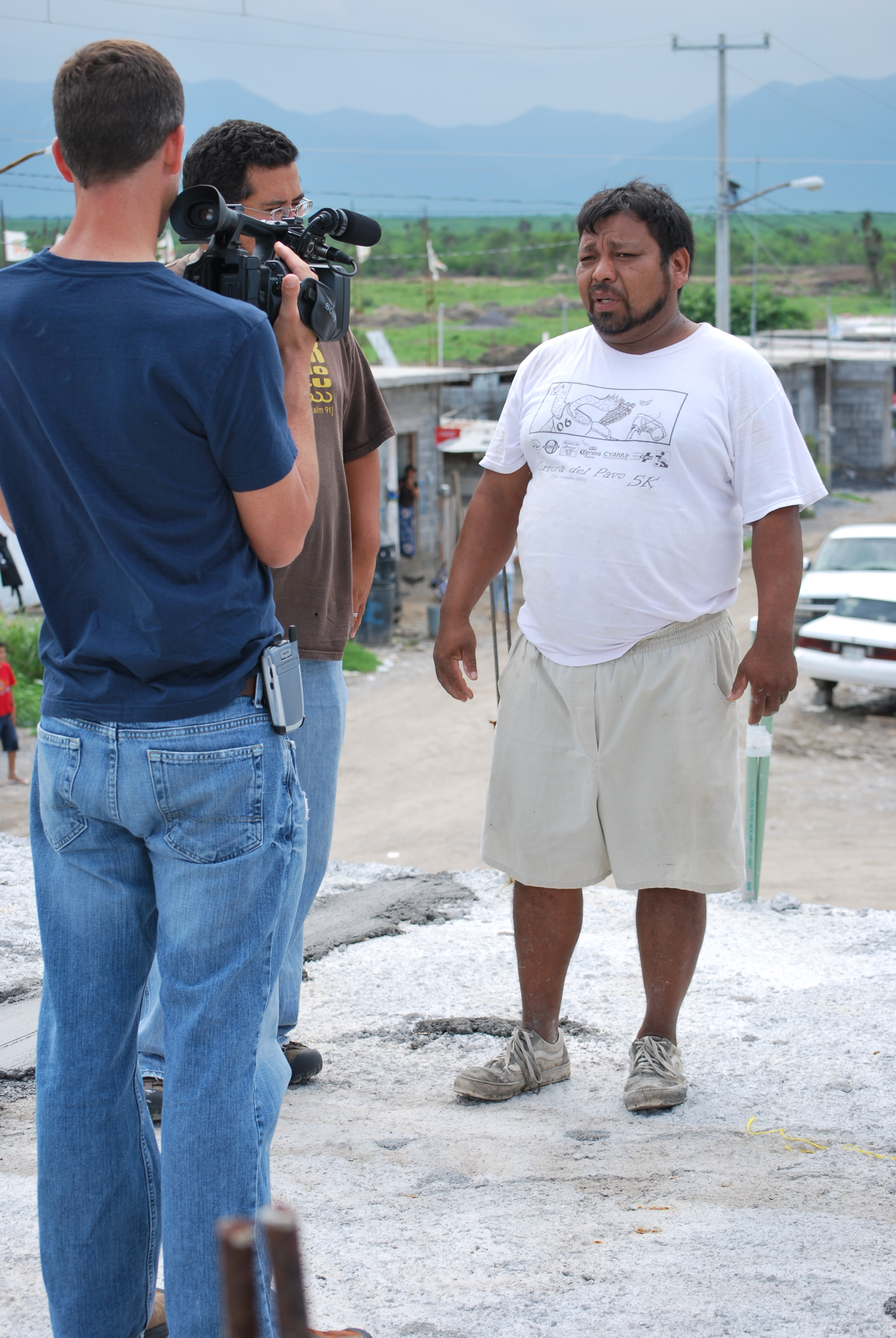 Shooting video footage of Angel, one of our ministry partners at Cadereyta