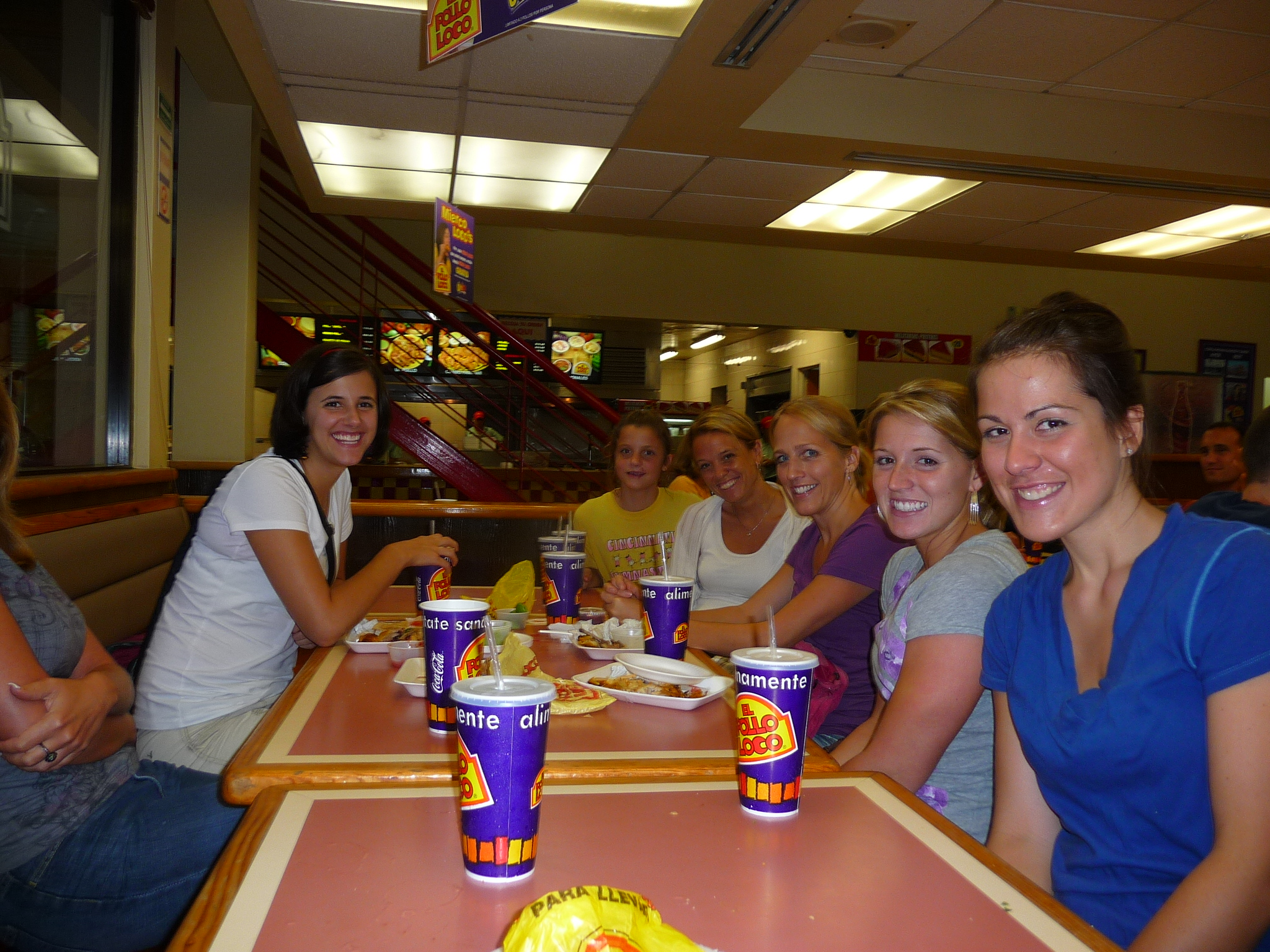 A few staff members during a dinner out at El Pollo Loco