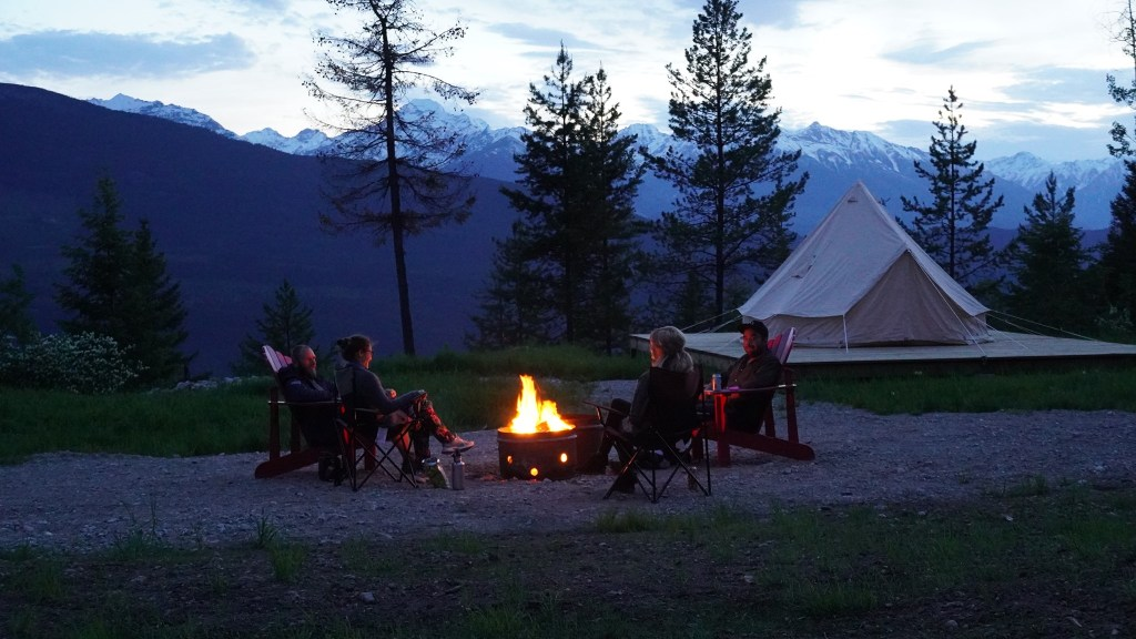 Campfire in the mountains