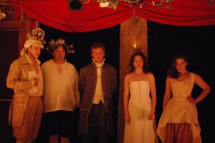 Harry Harris, Actor, Billy Downs, Elizabeth Barry & Jane (Matthew Schofield, Jamie Bradley, Andrew Bridges, Constance Witman & Danica Carlson)