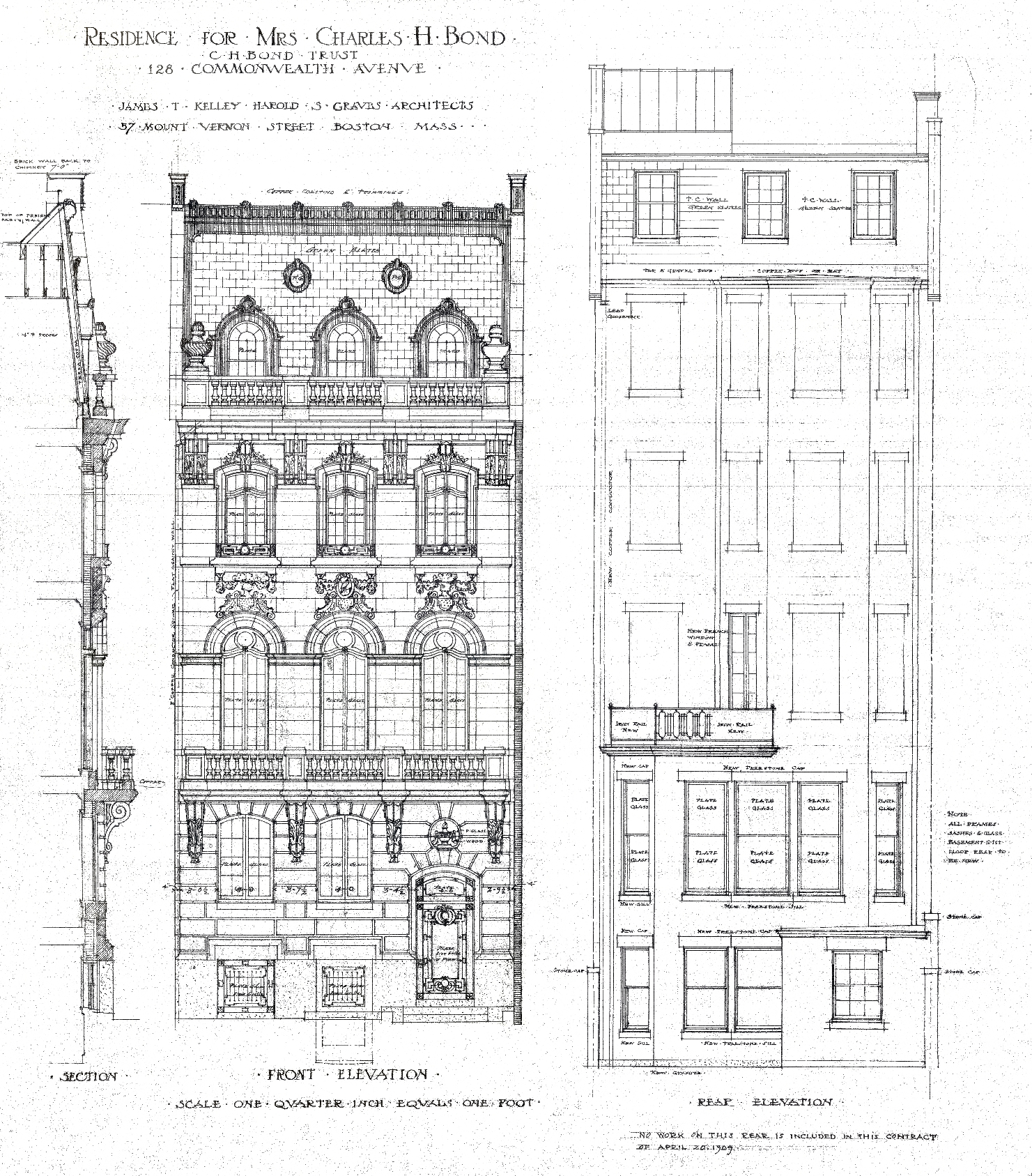 Architectural Plans: 128 Commonwealth