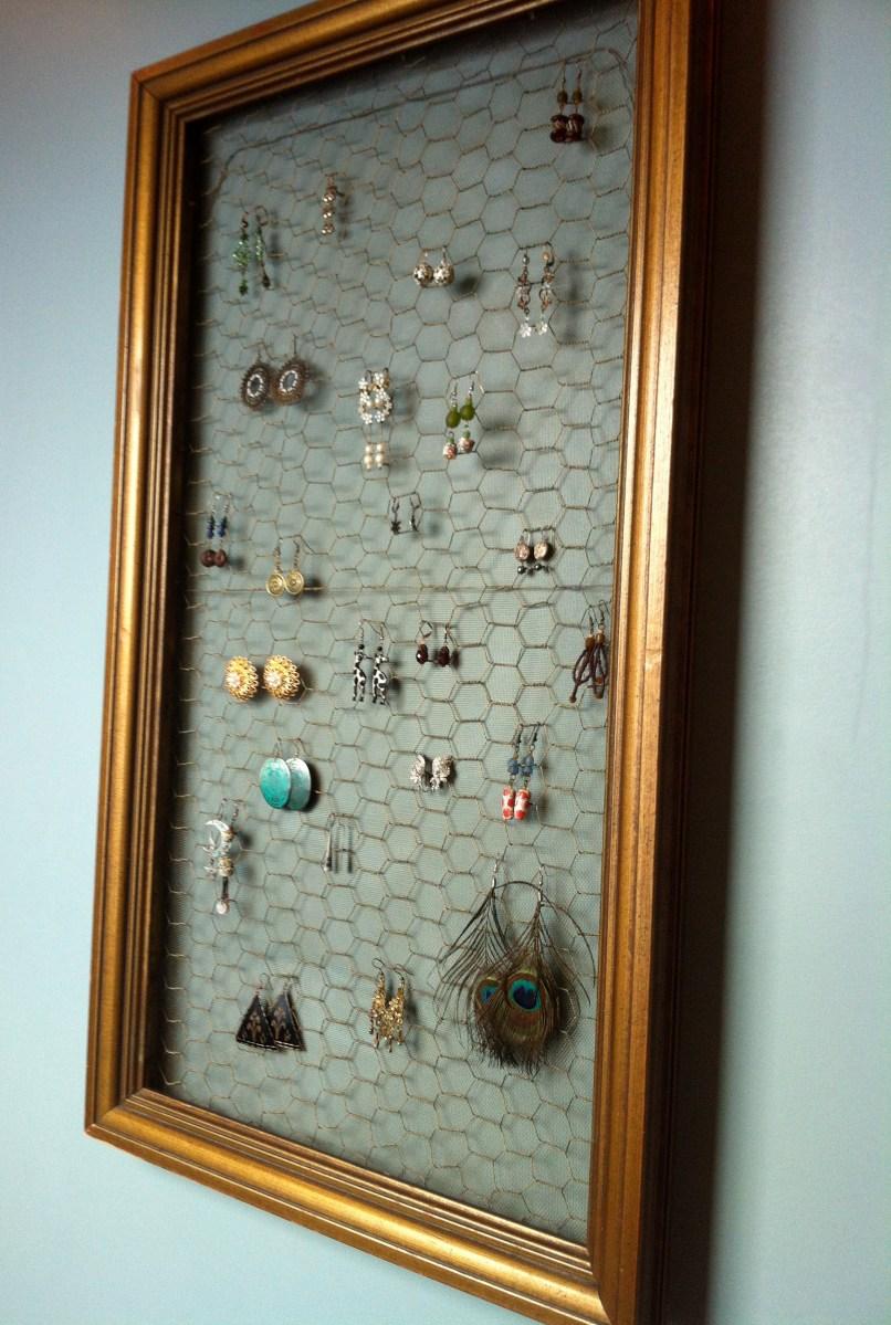 DIY Earring Display  Back Bayou Vintage