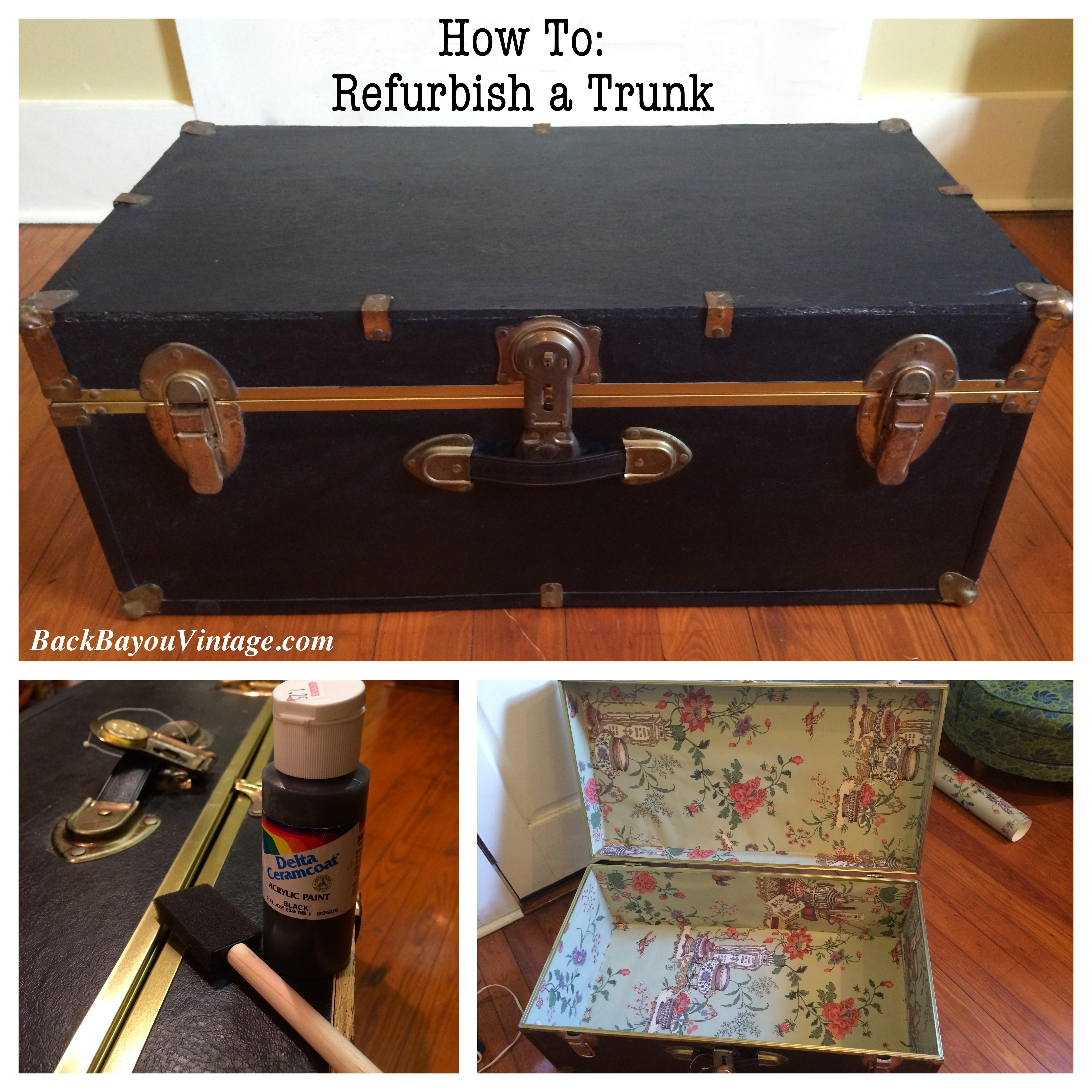 diy refurbished trunk back bayou vintage